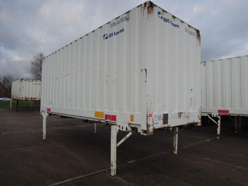 #18286 - Bild: 3 | Stalowy kontener wymienny | BDF-System 7.450 mm lang, Lagerbehälter mit 2.980 mm Eckhöhe
